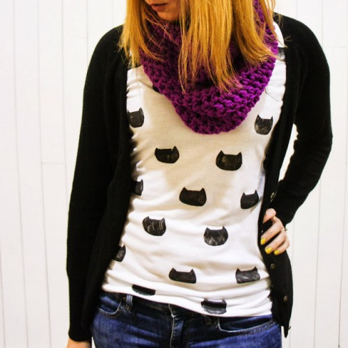 camiseta gatos diy 2