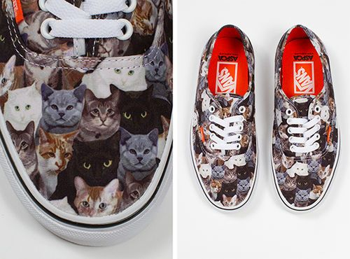 vans zapatillas gatos