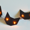 Decoración para Halloween: Guirnalda con gatos