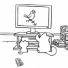 Simon's cat: La Tele